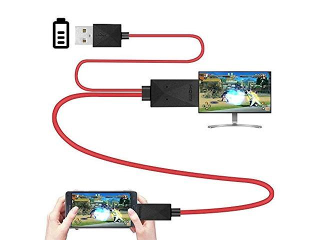 6.5 Feet MHL Micro USB to HDMI Adapter Converter Cable 1080P HDTV for  Android Devices Samsung 2f9388ba595b