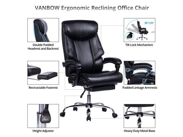 Brazil Furniture Waterfall Back Child Recliner.Vanbow Reclining Office Chair High Back Memory Foam Bonded Leather Executive Chair With Retractable Footrest Adjustable Angle Recline Lock System