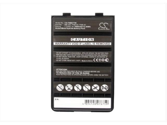 2x Two-Way Radio Battery for Standard Horizon HX370S HX270S HX600S HX500S FNB-83