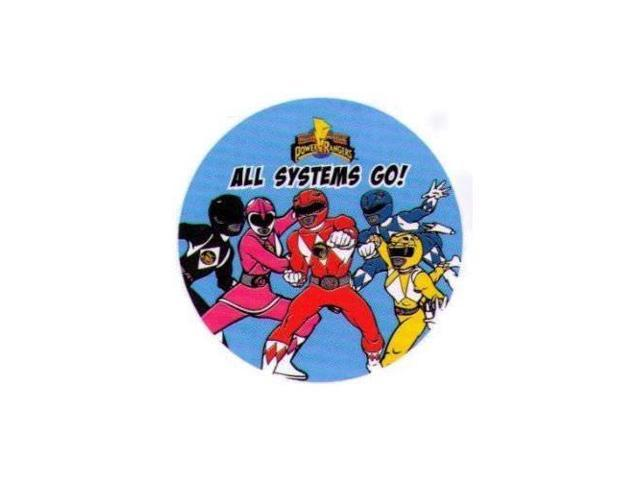 Might Morphin Power Rangers All Systems Go 1.25 Inch Button
