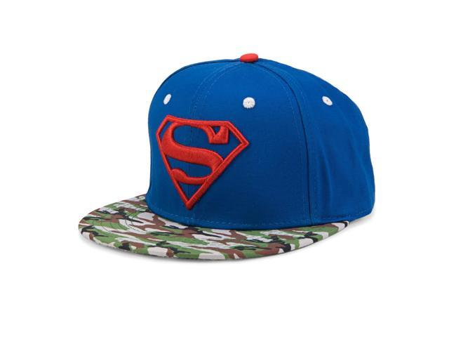 best website 33a9b 1d99b DC Comics Superman Logo Camo Bill Youth Adjustable Baseball Cap