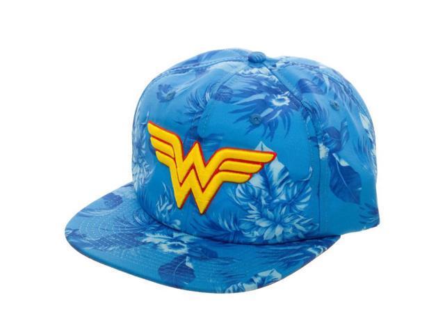 new concept f2ef8 a8a5d DC Comics Wonder Woman Mono Floral Slouch Adjustable Baseball Cap