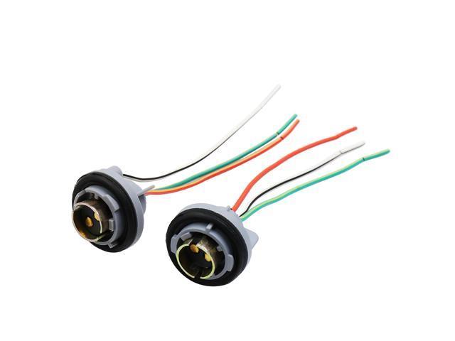 2pcs dc 12v wire harness socket car backup reverse light bulb 2pcs dc 12v wire harness socket car backup reverse light bulb adapter connector