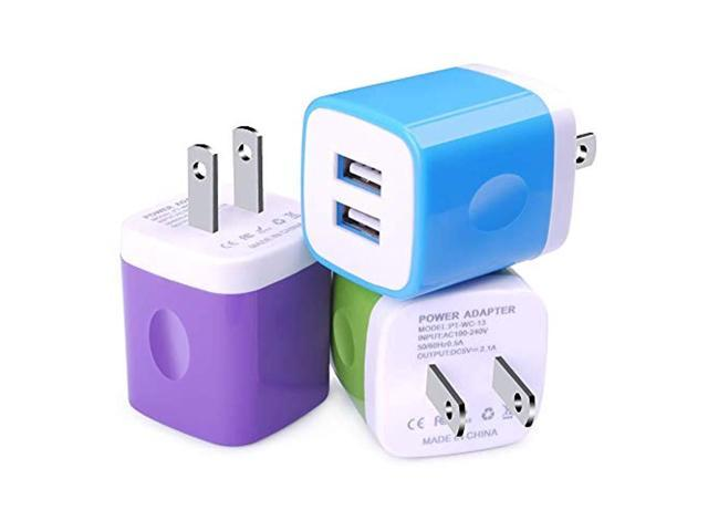 brand new 4e57a 4f98d USB Wall Charger,Charging Block,3-Pack 2.1Amp Dual Port Quick Charger Plug  Cube Compatible with iPhone 7/6S/6S Plus/6 Plus/6/5S/5,Samsung Galaxy ...