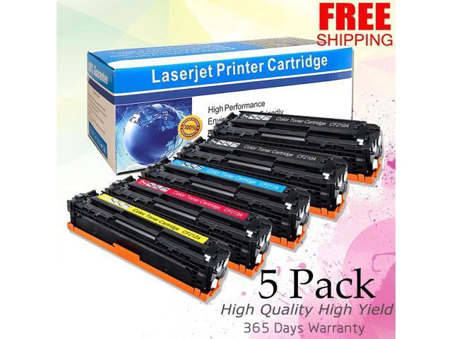 5PK Compatible Toner Cartridge For HP Laserjet pro 200 m251nw CF210A-CF213A 131A