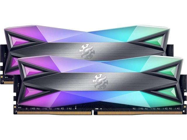 XPG SPECTRIX D60G RGB Desktop Memory Series: 32GB (2x16GB) DDR4 3000MHz CL16 GREY