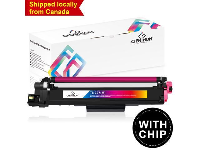 ChenPhon Compatible Toner Cartridge for Brother TN227 WITH CHIP HL-L3210CW  HP-L3230CDW HL-L3270CDW HL-L3290CDW MFC-3710CW MFC-3770CDW-1Pack(MAGENTA) -