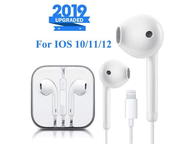 Lightning Earbuds Headphone Wired Earphones Headset With Microphone And Volume Control Compatible With Iphone Xs Xs Max Xr X 8 8 Plus 7 7 Plus Plug And Play Ios 10 11 12 White Newegg Com