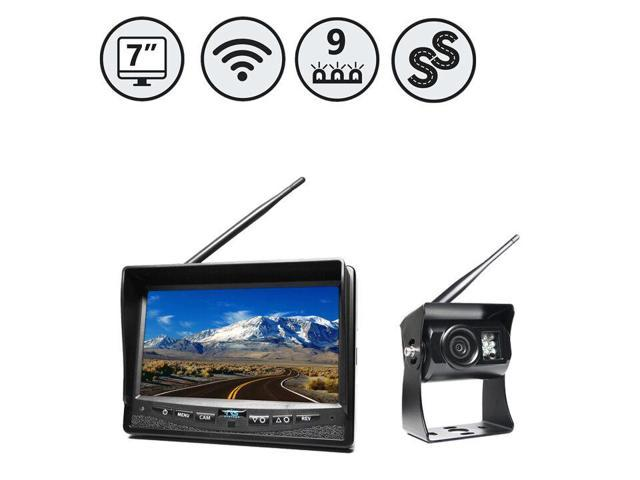 Wireless Backup Camera System With 7 Monitor And Wired Camera Inputs Rvs 355w Newegg Com