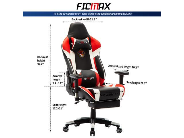 Amazing Ficmax Massage Gaming Chair High Back Gaming Office Chair Recliner Computer Chair For Gaming Ergonomic Racing Style E Sports Chair Height Adjustable Theyellowbook Wood Chair Design Ideas Theyellowbookinfo