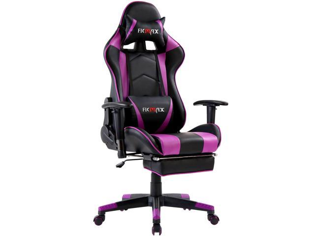 Swell Ficmax Massage Gaming Chair Ergonomic Gamer Chair With Footrest Reclining Game Chair With Armrest High Back Pc Gaming Chair Racing Style Home Office Evergreenethics Interior Chair Design Evergreenethicsorg