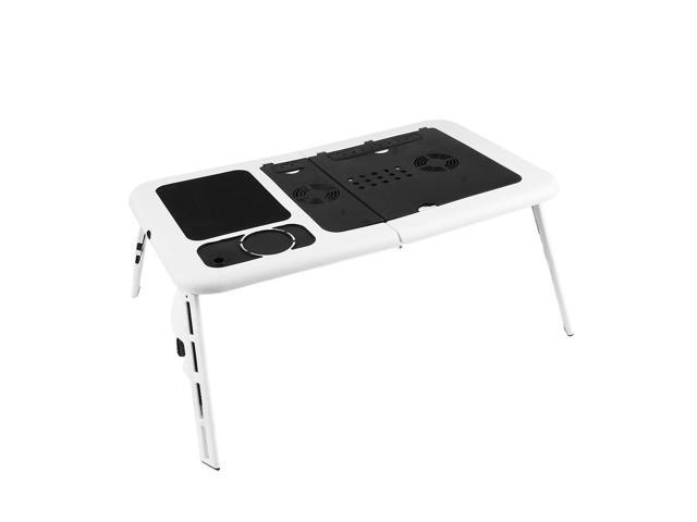 Amazing Ergonomic Foldable Laptop Computer Table Tray Desk With Cooling Fan Portable Tablet Desk Stand Bed Sofa Couch Newegg Com Short Links Chair Design For Home Short Linksinfo