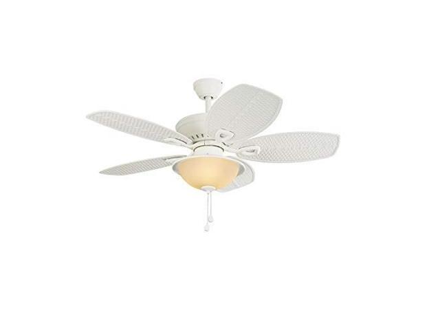 Harbor Breeze Cedar Shoals 44in White Downrod Or Close Mount Indoor Outdoor Ceiling Fan With Light Kit Newegg