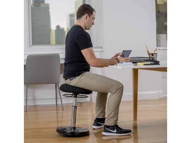 Terrific Kore Design Office Chair Wobble Chair Standing Desk Chair Active Sitting Adjustable Stool For Office Adjusts From 21 32 Black Fabric Standing Cjindustries Chair Design For Home Cjindustriesco