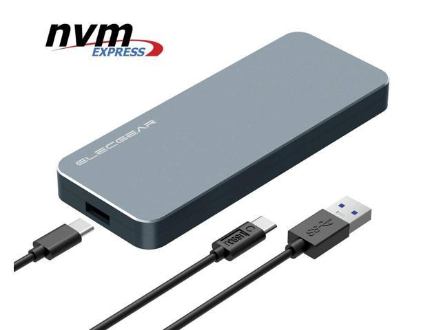 NVMe PCIe M 2 SSD to USB 3 1 Gen2 Enclosure - NV-i9 10Gbps External  Aluminum Cooling Case, 2280 PCI-E M2 M-Key NGFF HDD Card Reader Adapter,  NVMe