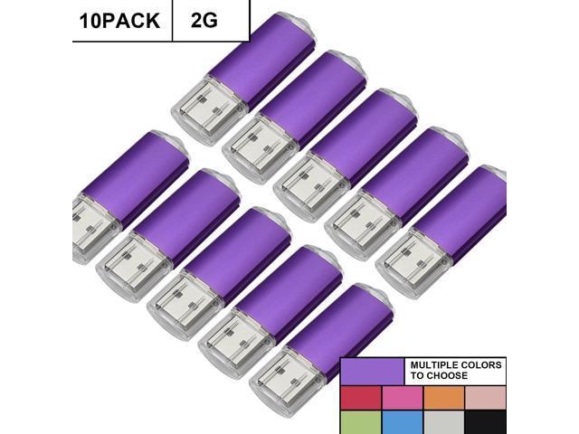 10PCS 2GB USB 2.0 Flash Drives Non-Slip Memory Sticks Thumb Pen Drives Storage