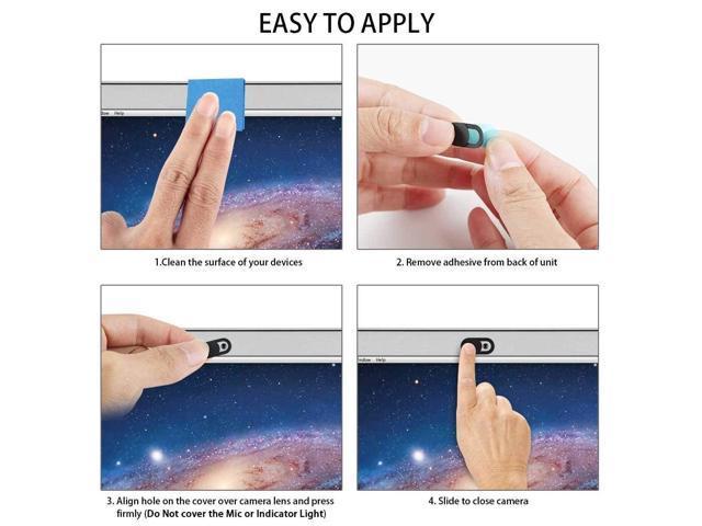 3//6Pack Webcam Cover Protective Lens Camera Slider Blocker for Laptop Mobile ER