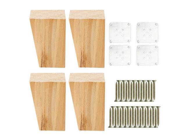 Pleasing 3 Square Solid Wood Furniture Legs Sofa Couch Chair Bed Ibusinesslaw Wood Chair Design Ideas Ibusinesslaworg