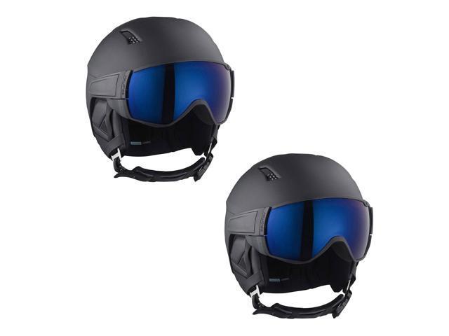 Salomon Driver solar helmet with visor all black