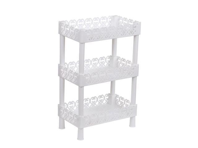 Plastic Small 3 Layers Storage Shelves Shower Shelf Rectangle Basket Desk Stand Rack Bathroom Shelves For Home Household Kitchen White Newegg Com