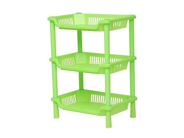 Plastic Small 3 Layers Storage Shower Shelf Basket Square Desk Stand Rack Bathroom Shelves For Home Household Kitchen Green Newegg Com