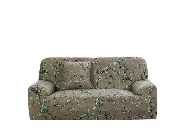 Stretch Sofa Cover Couch Cover 2 Seater Polyester Spandex ...