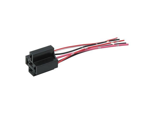 Dc 12v 5 Pin Wire Cable Relay Socket Harness Plug