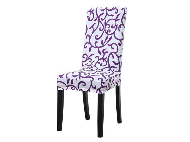 Strange Dining Chair Cover Stretch Bar Stool Slipcover Kitchen Chair Protector Spandex Pattern Chair Seat Cover For Home Decorative Dining Room Party Wedding Gmtry Best Dining Table And Chair Ideas Images Gmtryco