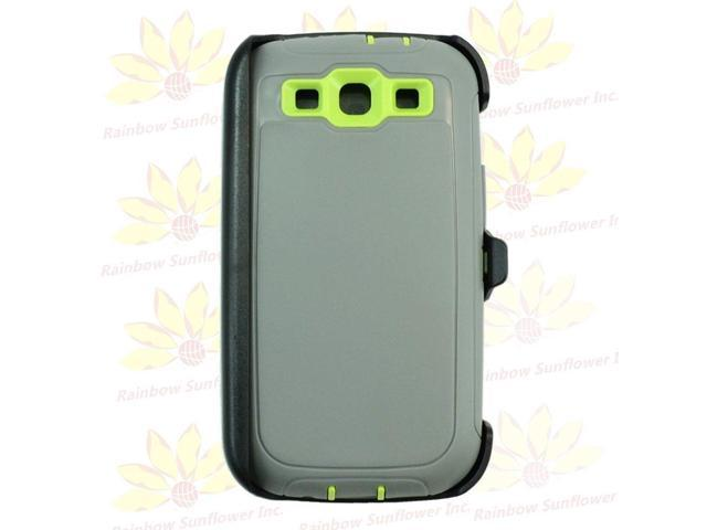 finest selection 03487 d344a For Samsung Galaxy S3 case cover(Belt Clip Holster Fits Otterbox  Defender)Gry GN - Newegg.com