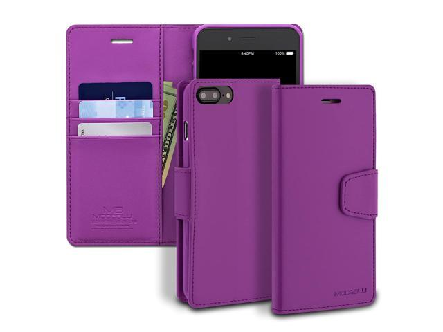 finest selection dc98a 852b7 iPhone 8 Plus Case, ModeBlu [Classic Diary Series] [Purple] Premium  Synthetic Leather [Stand View] for Apple iPhone 8 Plus (2017) - Newegg.com