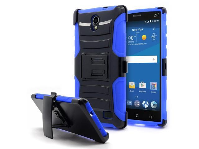 new product 023cf 73f50 ZTE ZMAX 2 Case, Nagebee - ZTE ZMAX 2 Heavy Duty Hybrid Armor Dual Layer  Rhino Kickstand Belt Clip Holster Combo Rugged Case for ZTE ZMAX 2 (Holster  ...