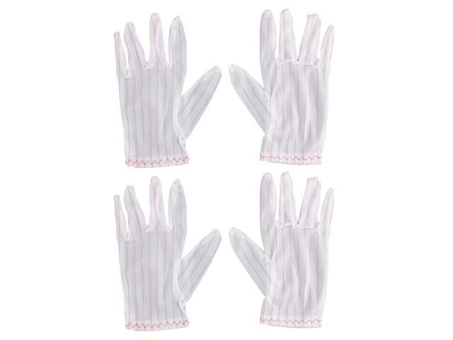 2 Pairs Electronic Working Protective Nonslip Anti-static Gloves Protector