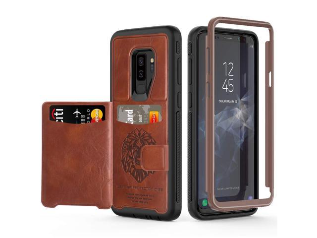 promo code 16a4c abf0e Galaxy S9 Plus Wallet Case Samsung S9 Plus Wallet Case with Card Holder  Slots Shockproof Protective Case for Samsung Galaxy S9 Plus 6.2 inch (2018)  - ...