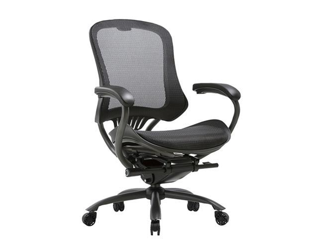 Clatina Lyl Series Ergonomic High Mesh Swivel Executive Chair With Adjustable Height Arm Rest And Lumbar Support Back For Home Office Newegg Com