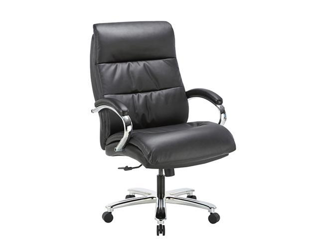 Ergonomic Big Tall Executive Office Chair With Bonded Leather 400lbs High Capacity Swivel Adjustable Height Thick Padding Headrest And Armrest For