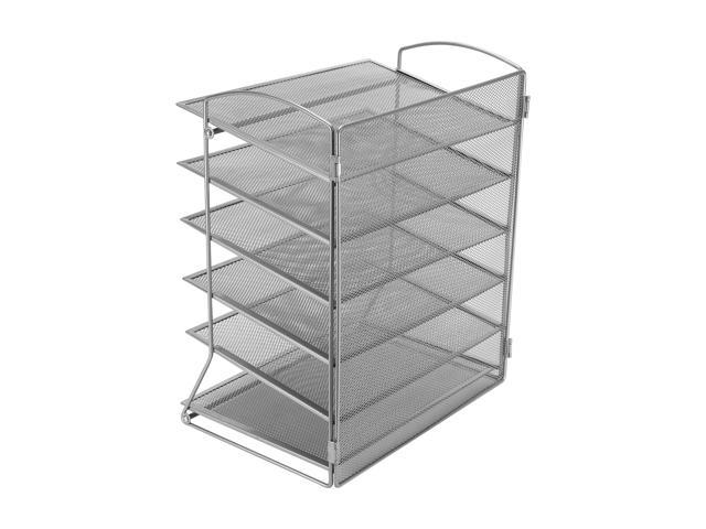 File Organizer With 6 Metal Trays