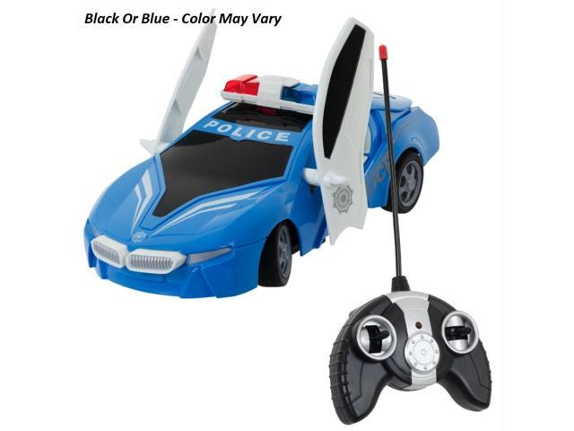 Remote Control Police Car For Kids RC Car Opening Doors LED Headlights  Radio Control Realistic Sounds And Lights, Police Toys Gifts For Kids  5-Year
