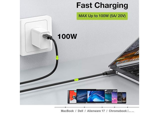 Compatible with USB 3.1 Gen 1 and 2 USB-C to USB-C Alienware 17,Chromebook and More MacBook NEWCARE Thunderbolt 3.0 Cable Supports 100W Charging // 40Gbps Data Transfer 2.3ft Certified Dell