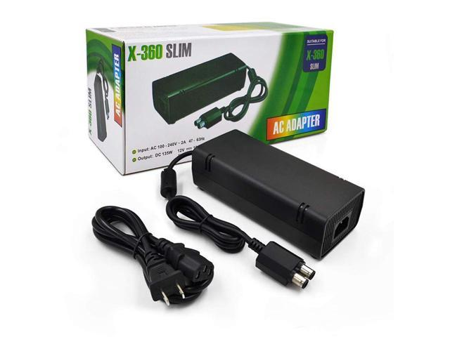 Xbox 360 Slim Power Brick with Power Cord Cable, AC Adapter Built-In Xbox Slim Power Brick Fuse on