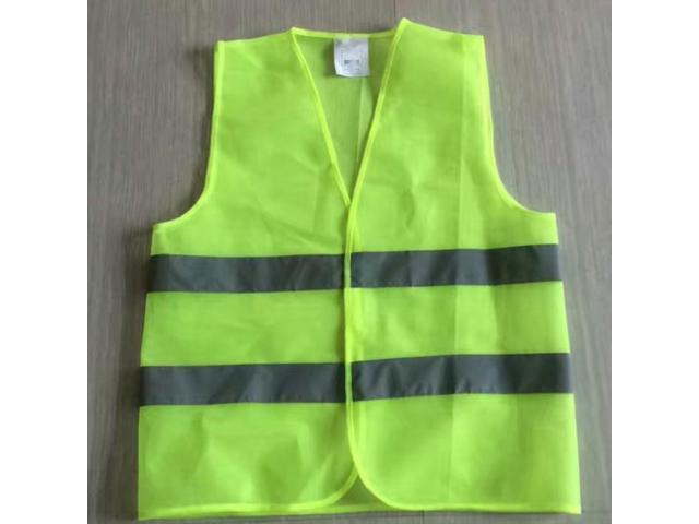 High Visibility Vest Safety Motorcycle Motorbike Fluorescent Reflective Stripes