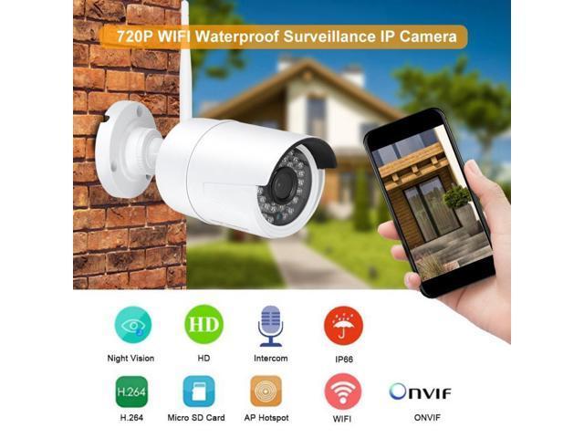 720P WIFI Waterproof Surveillance Camera Wireless Outdoor IP Camera Two-way  Intercom With IR Night Vision - Newegg com