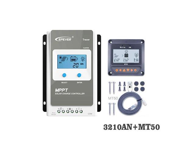Tracer3210AN 30A MPPT Solar Panel Charge cell battery charger control  3210AN 3210A with MT50 Remote Meter LCD Display - Newegg com