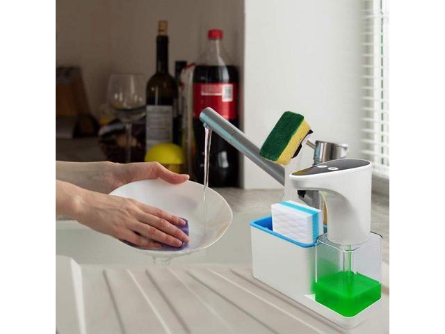 Premium 15 Oz Kitchen Soap Dispenser With Sponge Holder ...