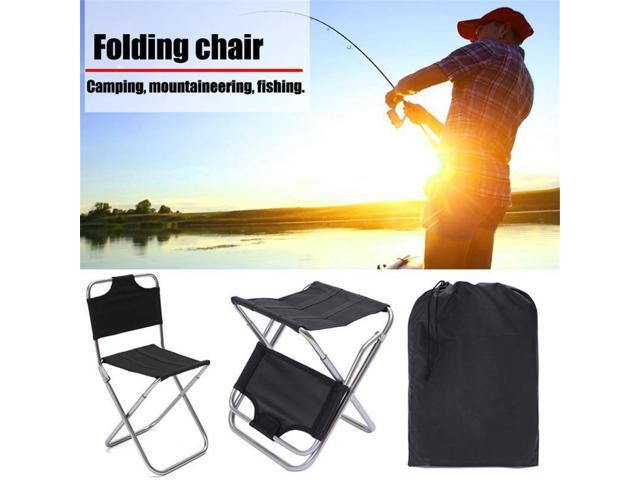 Admirable Aluminum Folding Chair Outdoor Fishing Camping Picnic Climbing Stool Cloth Bag Package With Backrest Evergreenethics Interior Chair Design Evergreenethicsorg