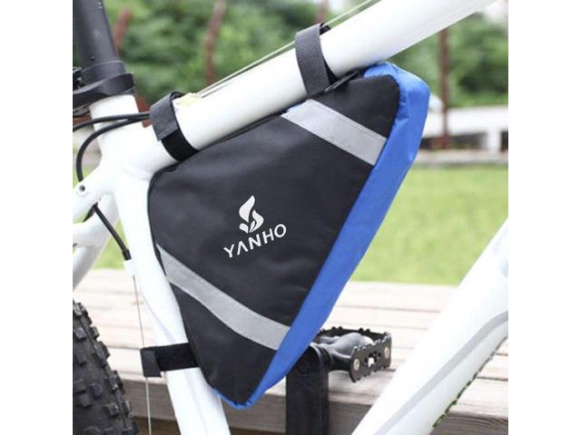 Reflective MTB Road Bike Front Bag Pannier Cycle Bicycle Triangle Bag Pouch