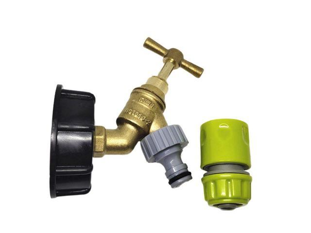 S60X6 To Brass Garden Tap W// 1//2 Hose Fitting Oil Fuel Water IBC Tank Adapter