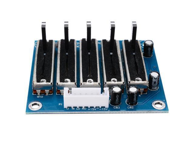 //-12V Dual power //-15V Stereo 5 Band Equalizer EQ 5-Segment Tone Adjust Board