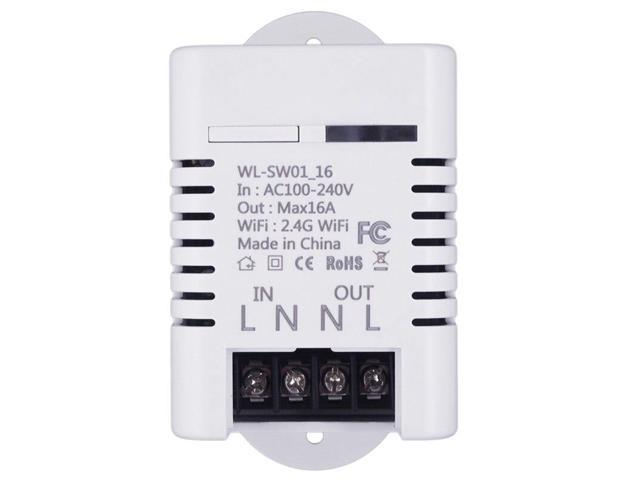 2 4G Wifi Smart Switch Relay 16A Tuya Smart Life App Wireless Remote  Control Works with Alexa Ifttt Google Home Mini - Newegg com