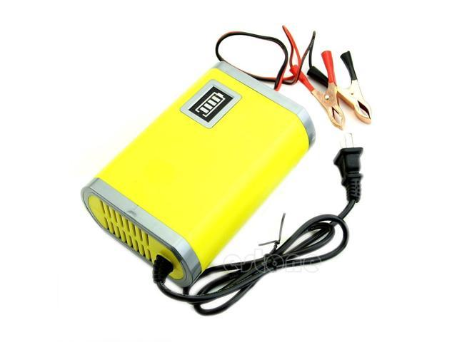 Hot 12V 6A Motorcycle Car Auto Battery Charger Intelligent Charging Machine  Yellow - Newegg com