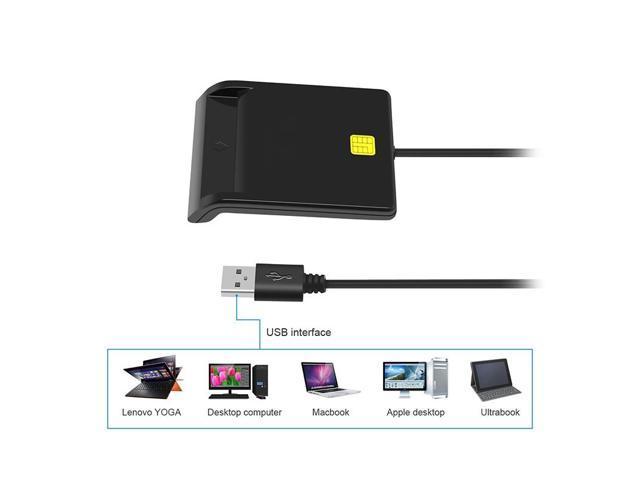 Universal Portable Smart Card Reader For Bank Tax ID CAC DNIE ATM IC SIM  Card USB 2 0 480Mbps Card Readers - Newegg com